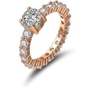 Jewelry - Classic 18K Rose Gold Plated Cubic Zirconia